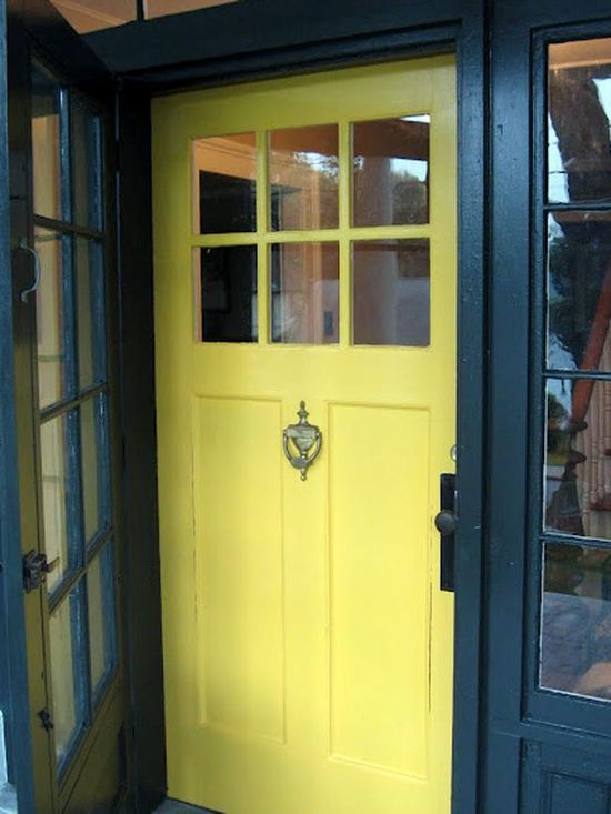 11 Inviting Colors to Paint a Front Door - Home improvement : DIY