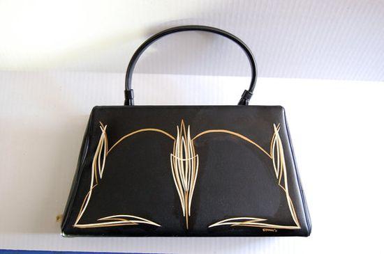 pinstriped purse