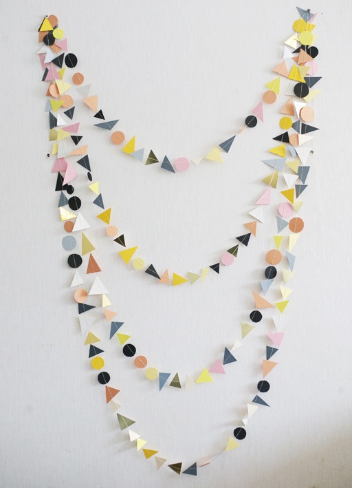 crazy painting, cut, sew, garland! different techniques, make one every year, save print, stamp, draw, paint, diff materials- magazines maps photos fabric, etc