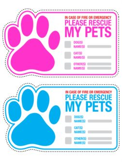 Good Idea for pet owners! Emergency Fire Pet Rescue Stickers.