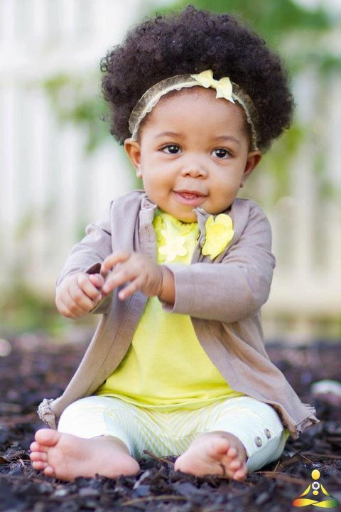 She is too cute! Her fro is everythang!!