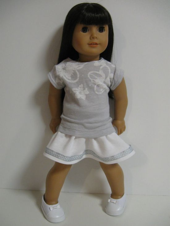 American Girl Doll Clothes Soft Greys by 123MULBERRYSTREET on Etsy, $23.00