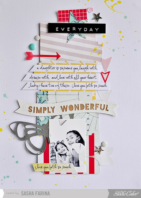 #papercraft #scrapbook #layout simply wonderful