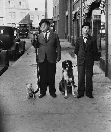 Laurel & Hardy  #celebrities #pets #dogs