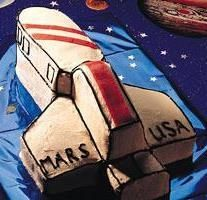 Tablespoon// Spaceship Cake Recipe