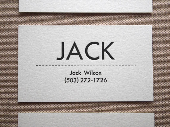 Personalized Letterpress Business or Calling Cards by seabornpress business card #identity