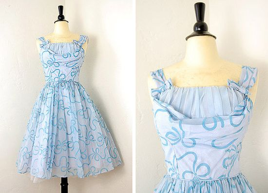 vintage 1950s party dress by adorevintage
