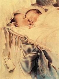 Illustration- Bessie Pease Gutmann- Twins