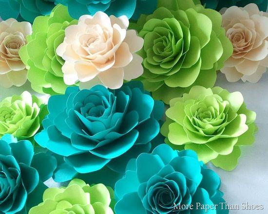 Handmade paper Flowers designed by Anna #handmade tortillas #nwa express yourself #handmade halloween cards