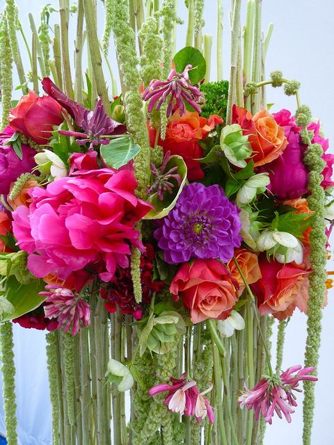 Flower arrangement Chelsea 2011 by esmondelf, via Flickr