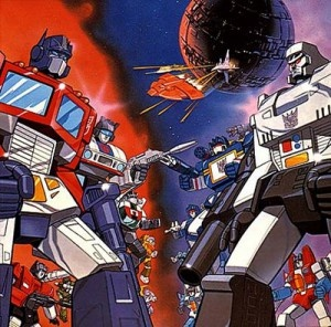 Transformers cartoons - my brother & I used to watch this when we were kids!