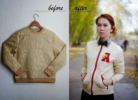 DIY varsity jacket - :: OUTSAPOP TRASHION DIY fashion ::