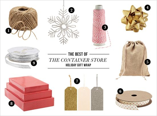 The Container Store: Holiday Gift Wrap
