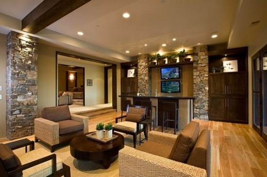 Fieldstone Tile Walls for Home Interior Decor