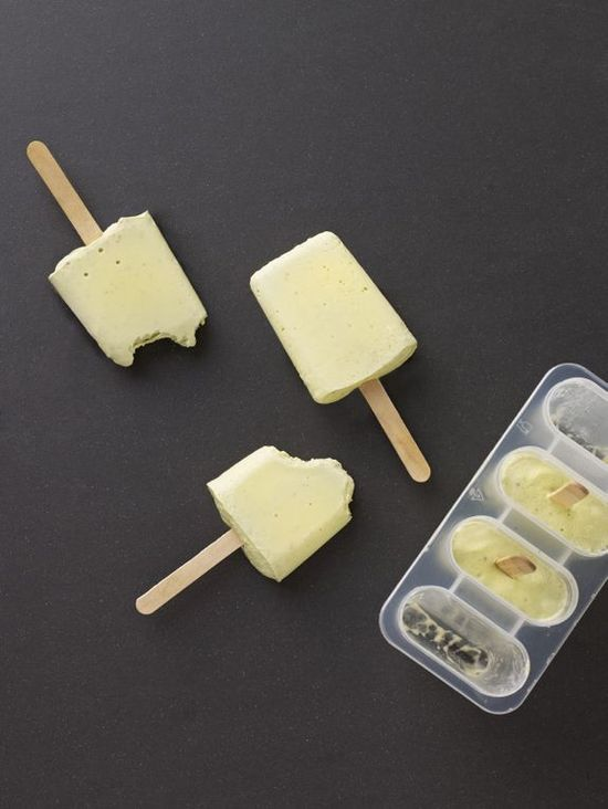 Avocado + coconut water popsicles