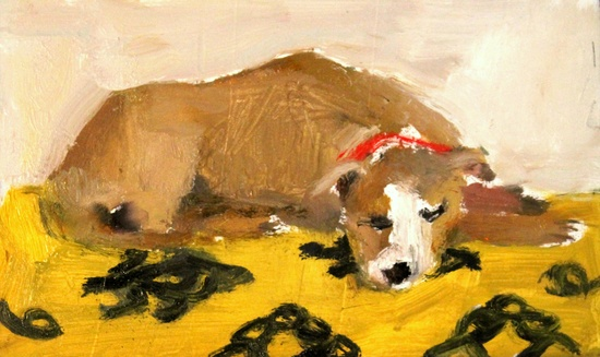 'Sleeping on Ikat' original oil painting. #Etsy #JonathanAdler #GetChicSweepstakes