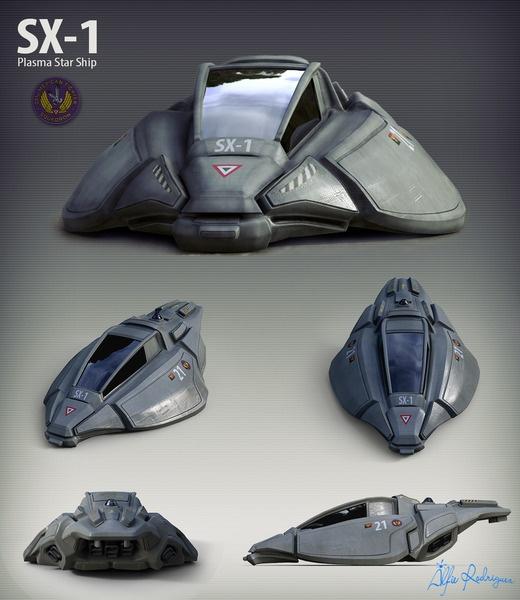 SX-1 Starhip by alfredosdesign