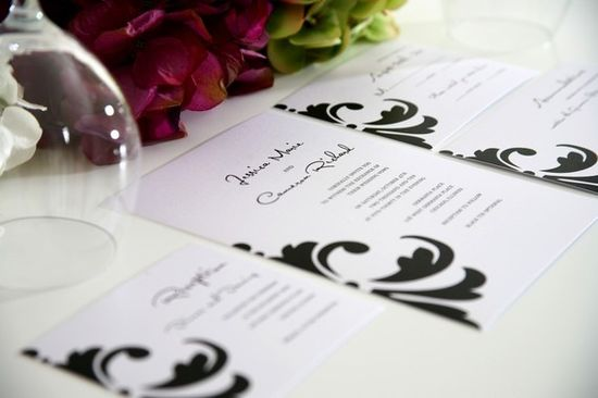 I love how simple yet still fun this wedding invitation is....