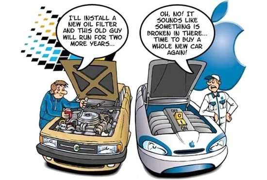 PC Vs. Mac using cars. #9Gag #funny #humor #Windows #Mac #cars