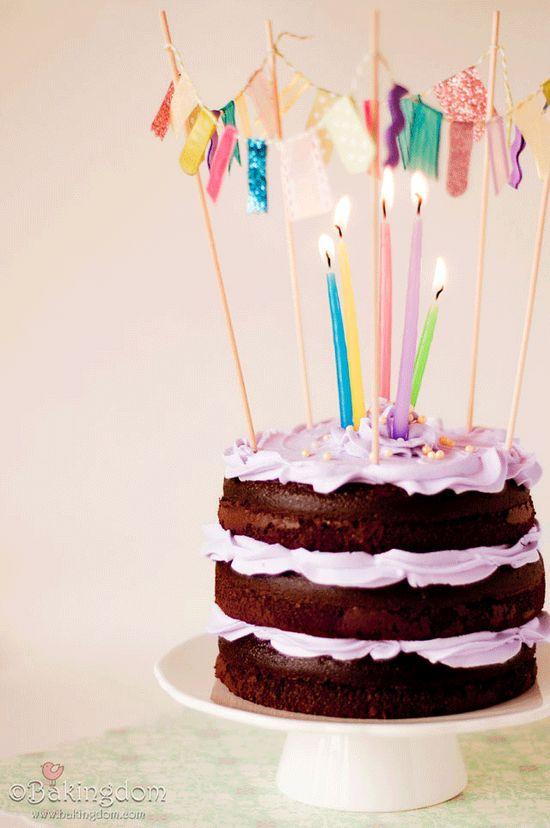 Festive Banner Cake