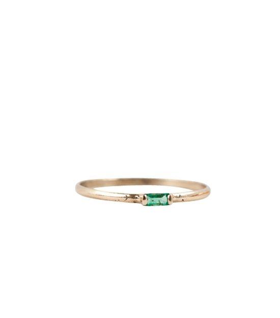 Baguette Ring, Emerald