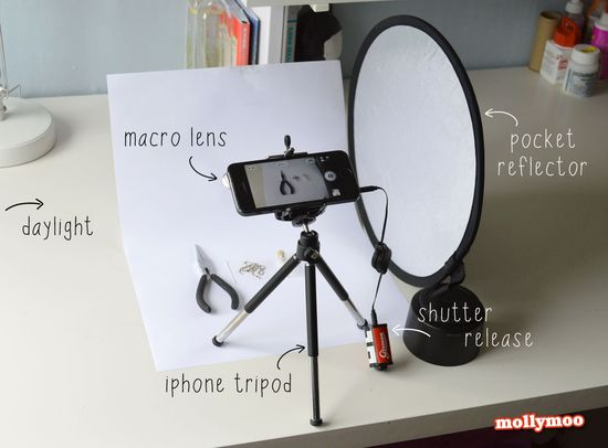 teeny tiny portable studio & photography tips for bloggers from @Michelle Flynn McInerney