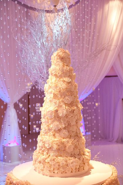 This white wedding cake is anything but ordinary!