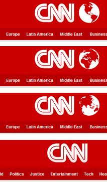 CNN - Globe perspective rotates relevant to the content of the section and randomly on the homepage.