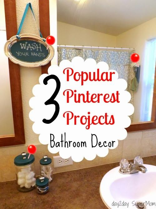 3 Popular Pinterest Projects: My Bathroom Decor ~ DIY Friday