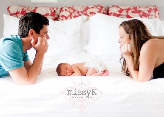 Dad, Baby, Mom