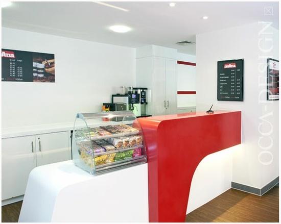 Tune Hotels, Hotel Interior Design, Snack Bar, Food Service Counter