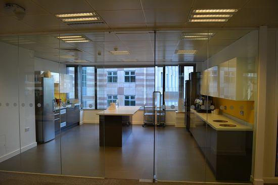 Transparent tea making point #office #design #inspiration