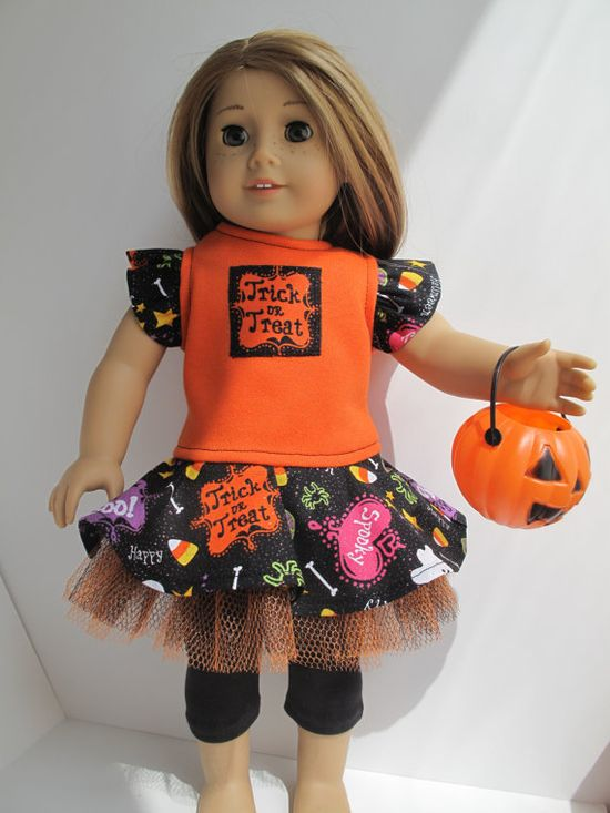 Trick or Treat Dress by dollCLOTHEStique on Etsy, $15.00