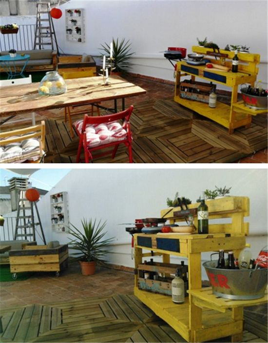 Barbecue Stand from Pallets