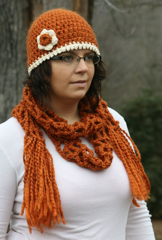 Adult Crochet Hat and Scarf Set