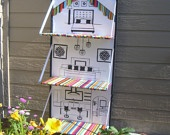 Fabric doll house