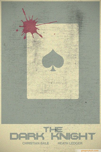 Minimalist Movie Poster: The Dark Knight