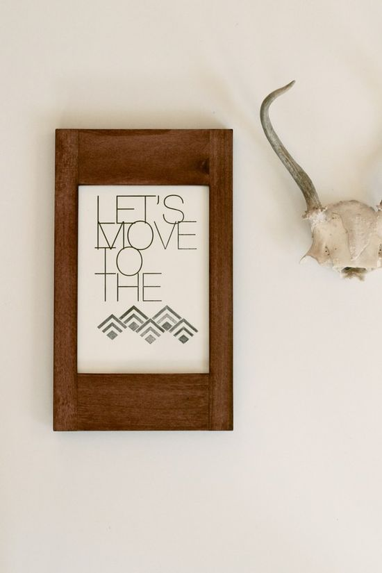 Mountains Print by inhauspress on Etsy