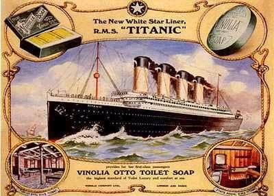 retro soap posters | Vintage Titanic Vinolia Otto Toilet Bath Soap Canvas Giclee Oversize