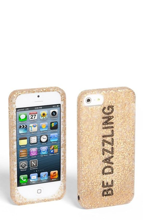 Be dazzling. Love this sparkly, glittery iPhone case.