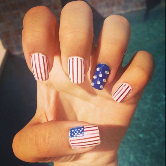 alanamwoods' festive tips. Show us your 4th of July-inspired nails! Tag your pic #SephoraNailspotting to be featured on our social sites.