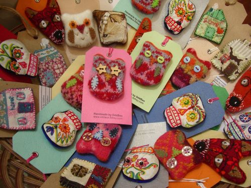 pretty hand made brooches
