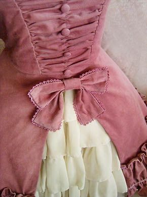 Dusty rose and cream lolita dress