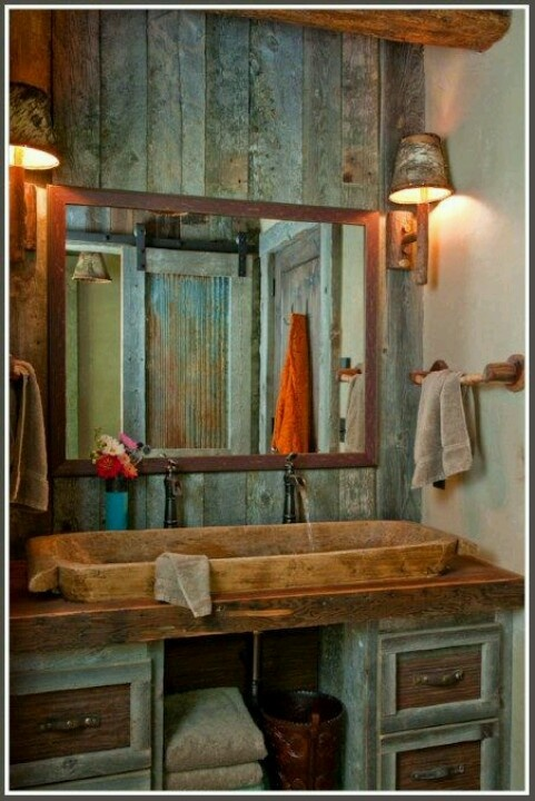 Rustic...love the sink