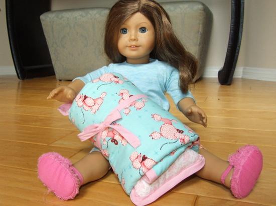 sleeping bag for American Girl doll