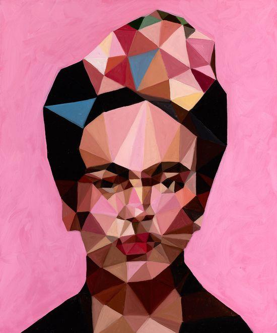 "Saatchi Online Artist: Angie Jones; Oil, 2013, Painting ""Frida"""
