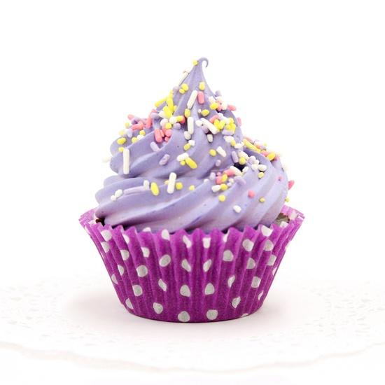 Lavender Chocolate Cupcake Soap