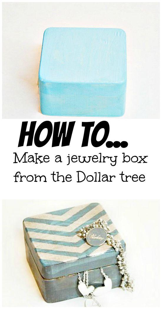 How to make a jewelry box from the @Stacey McKenzie McKenzie Dollar Tree