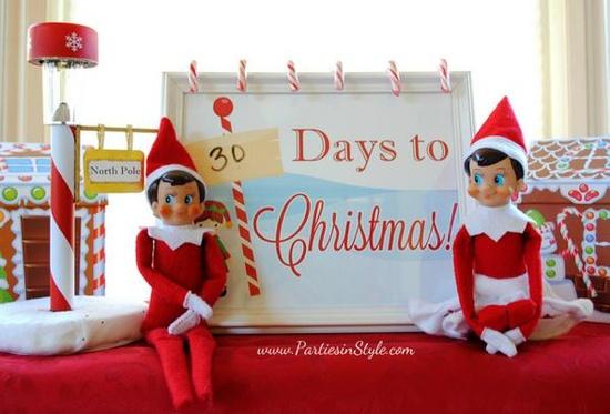 Elf on The Shelf Holiday Christmas breakfast party idea via Kara's Party Ideas www.KarasPartyIde...