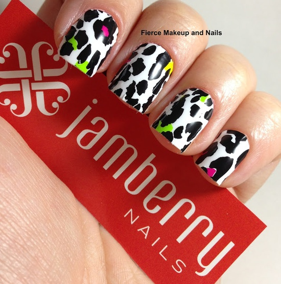 Fierce Makeup and Nails: Jamberry Nails: Colorful Leopard